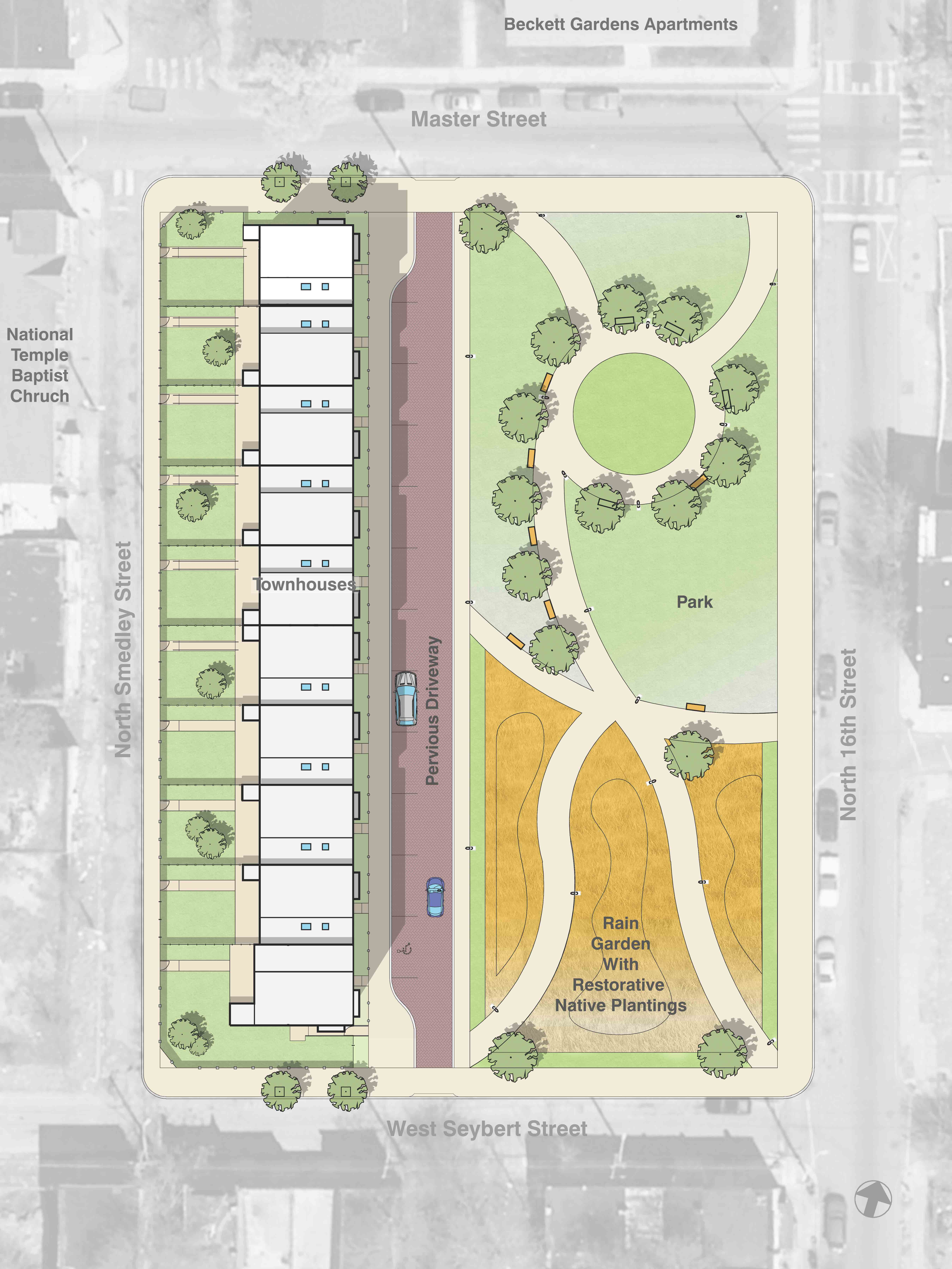 Overall Site Plan - Ingersoll Commons & Park