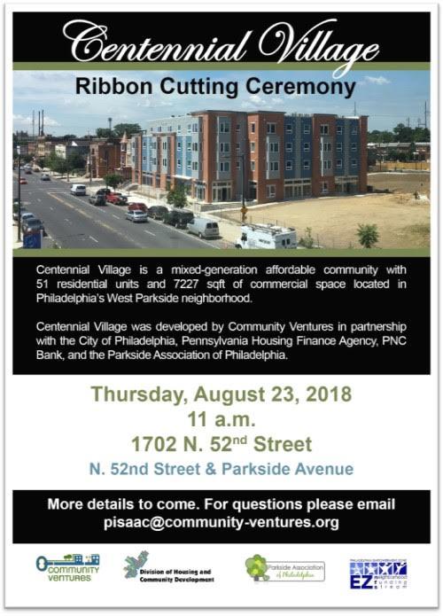Centennial Village Ribbon Cutting Invite